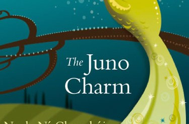 Juno Charm book cover with peacock illustration
