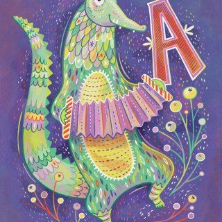 A is for Alligator Playing the Accordion