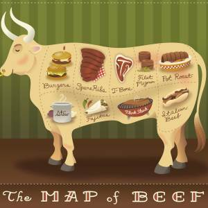 Map of Beef: print for sale
