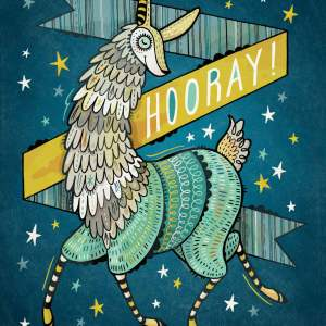 Hooray Llama: print for sale