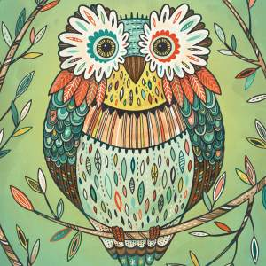 Wise Owl: print for sale