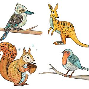 Animals for a Wedding Invitation