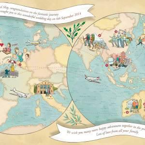 Wedding Gift Map