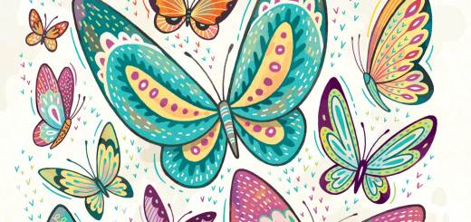 Butterflies: print for sale
