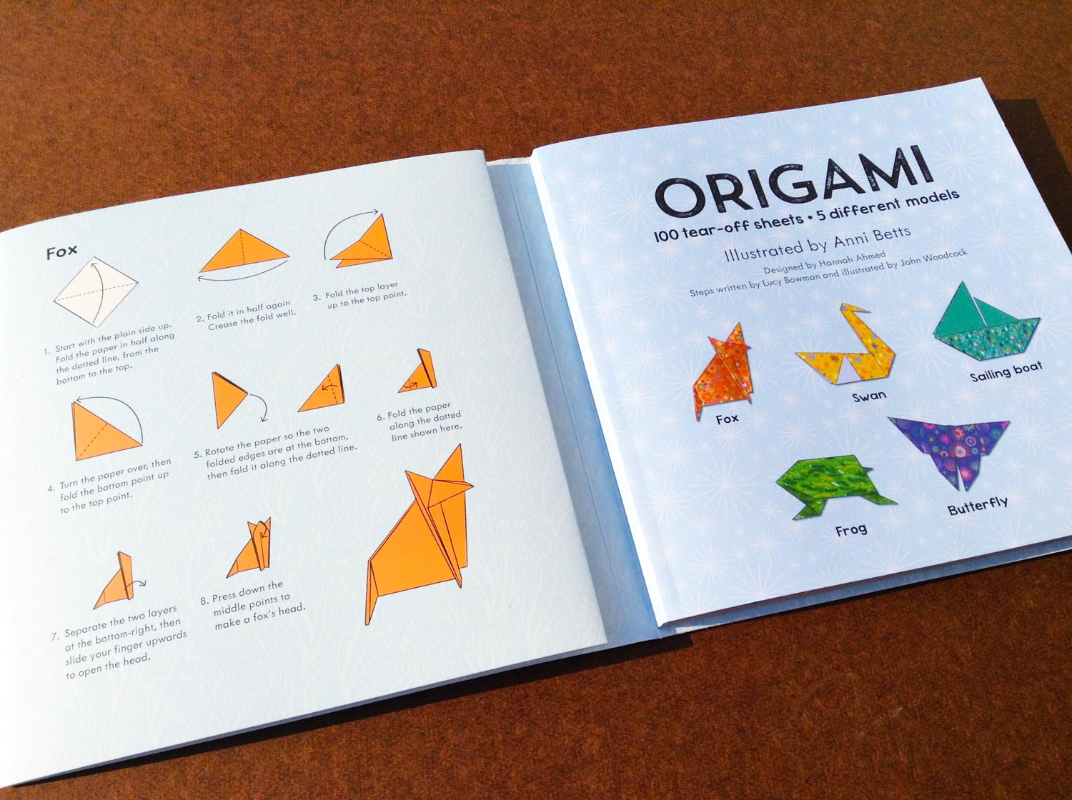 Origami Book inside spread