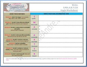 S.M.A.A.R.T.E.R. Goals Worksheet
