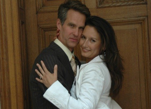Blake and I minutes after we were married in Scotland