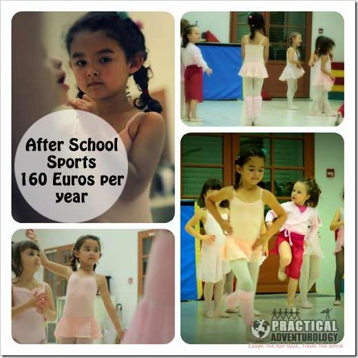 How much do after school sports cost for kids in france?