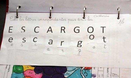Learning to spell escargot