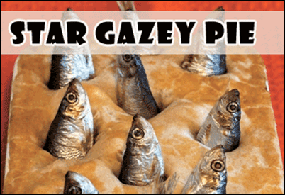 Weird Traditional British Food: stargazey-pie