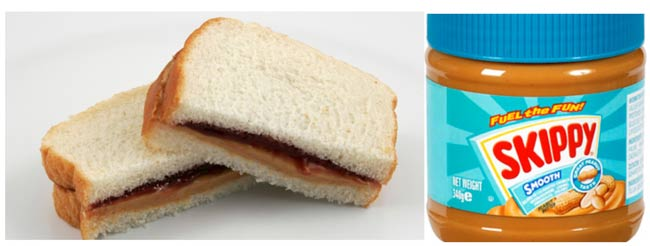 I hate the dirty looks you get if you tell a French person you eat peanut butter on bread with jelly: akd PB&J