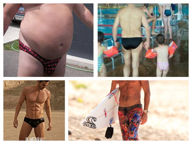 I hate seeing guys in tight revealing speedos or (I miss board shorts on guys at the pool and beach)