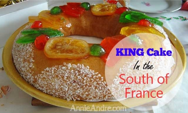 This king cake is from the south of France.