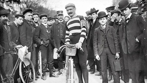 Hippolyte-Aucouturier: cheated during the tour de France by having a car pull him from a string he put between his teeth