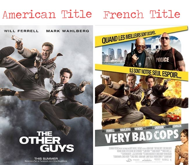 The other guys = Very bad cops movie title for French audience