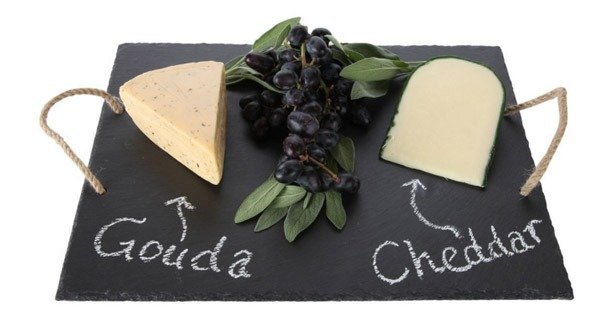 A fancy slate cheese board is a fabulous French Gift to give your Francophile Friends Obsessed with France
