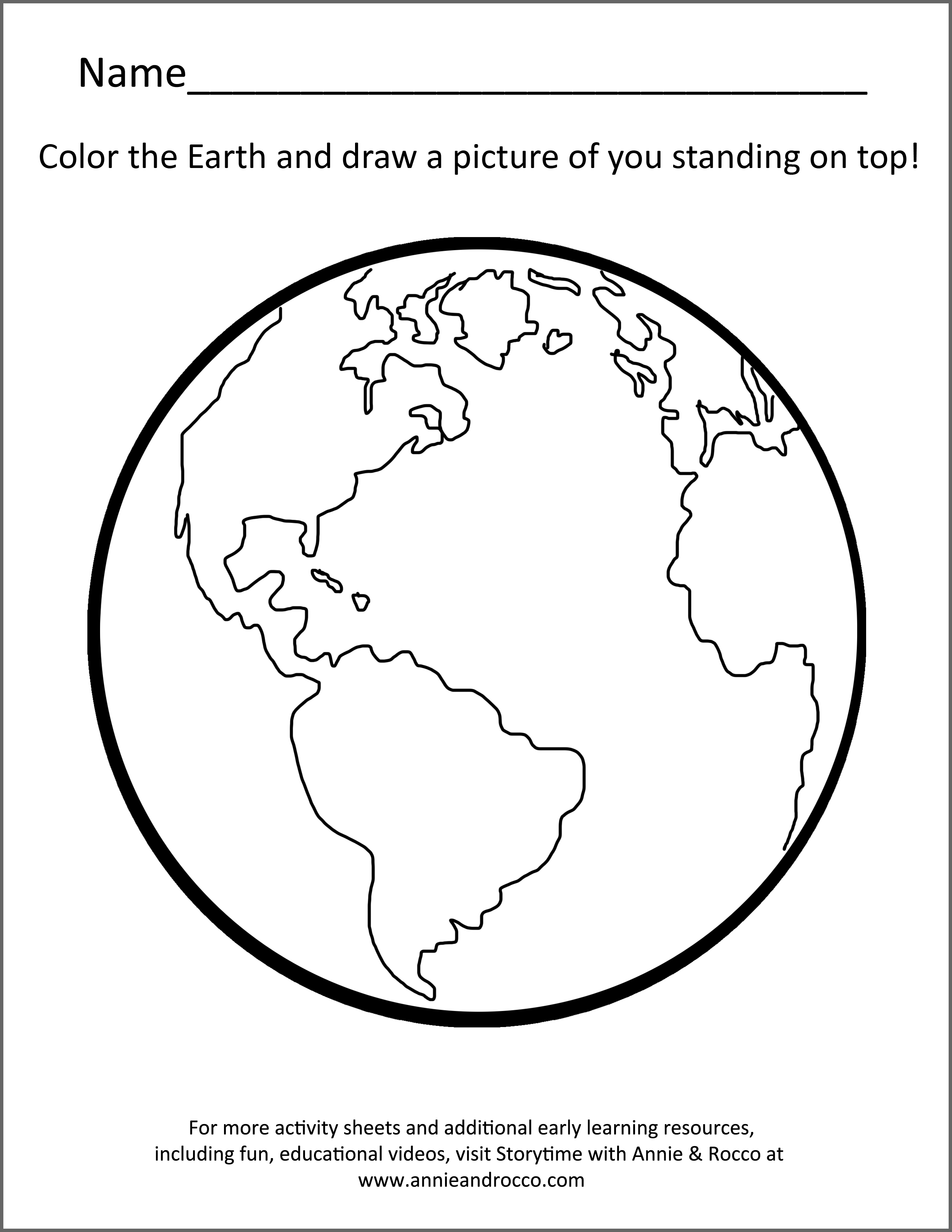 Earth Song Activity Sheets