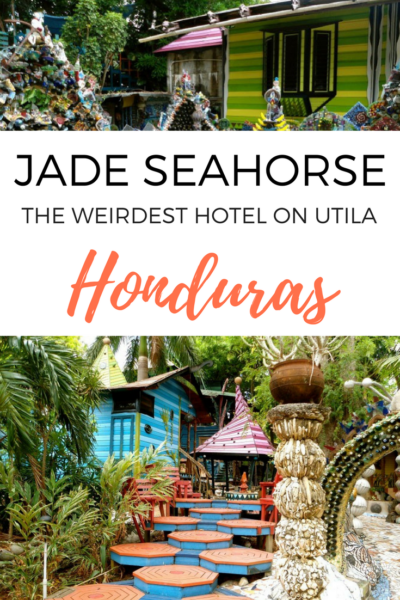 Anybody want to sleep in a pile of trash? That hotel on Utila in Honduras is the weirdest I've ever seen! #hotel #Utila #Honduras #Accommodation #weird