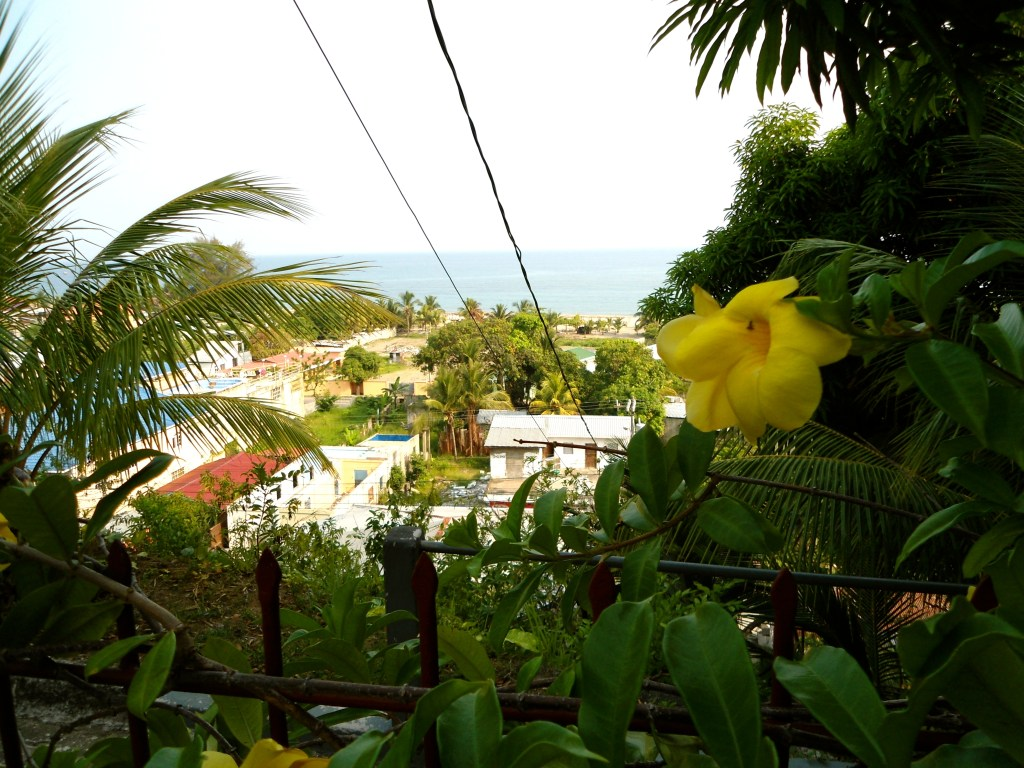 The view from our hotel in Tela, Honduras