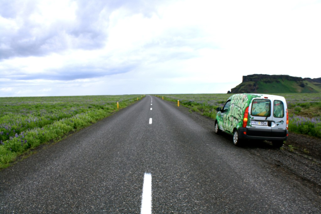 Exploring the roads of Iceland in a campervan