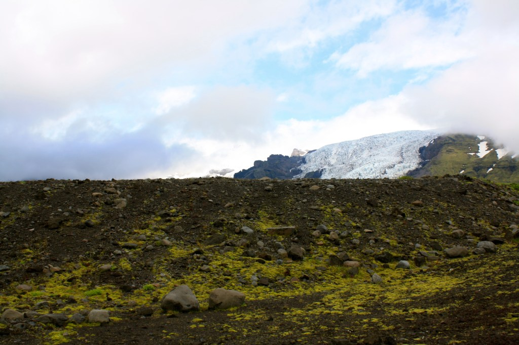 View on the Vatnajokull Glacier in Iceland