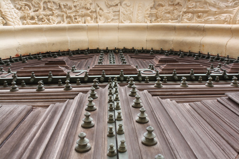 Details of a door at the Covento de Cristo in Tomar, Portugal