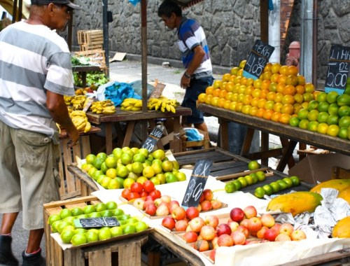 Fruit market in Rio de Janeiro