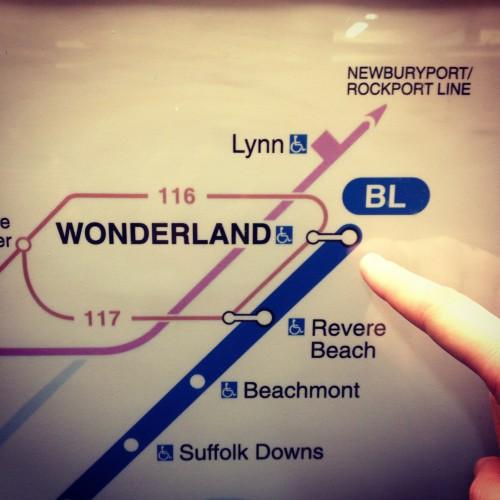 Wonderland Subway Station in Boston