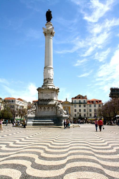 Praça Dom Pedro IV in Lisbon