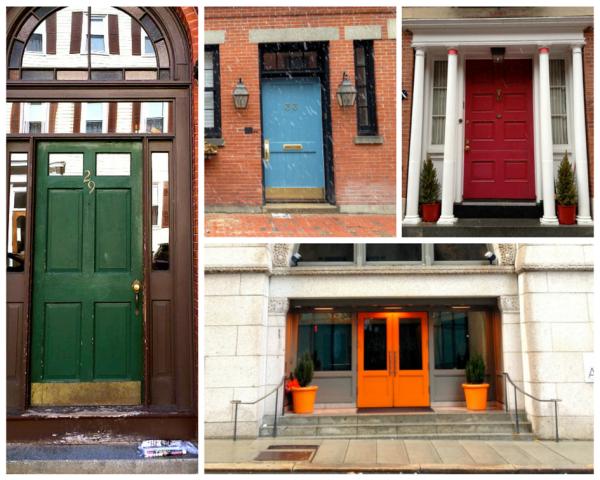 Colorful doors in Boston