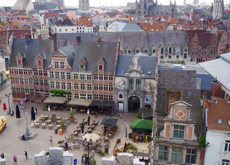 View from the castle in Ghent