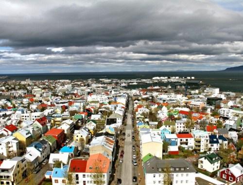 Vue de Reykjavik, capitale de l'Islande.