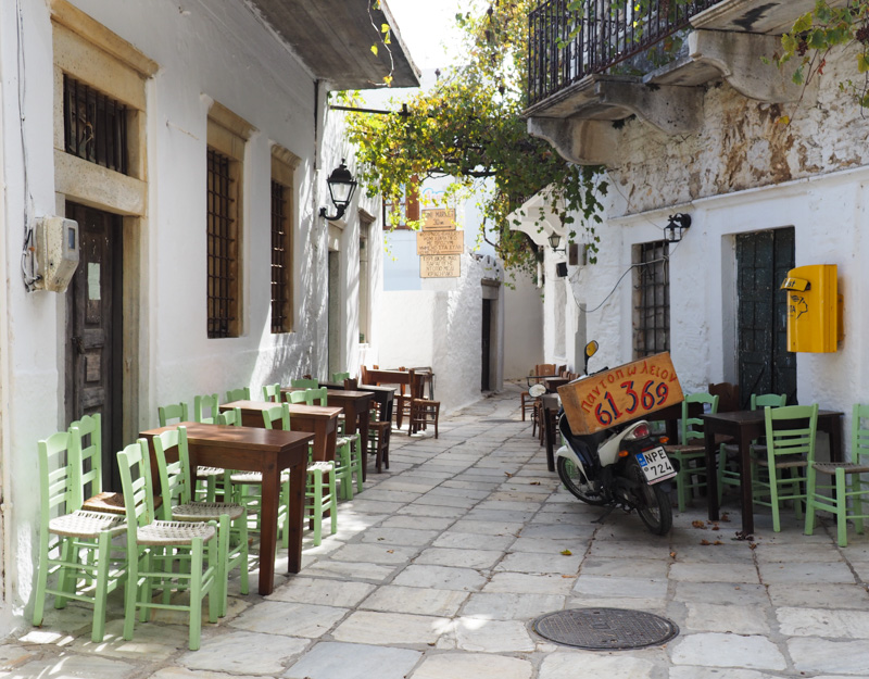 Apiranthos, a small village on Naxos