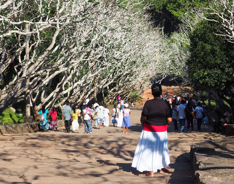 Visite du site de Mihintale au Sri Lanka