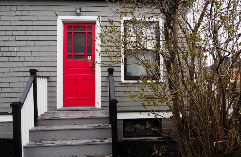 Portes rouge à Charlottertown
