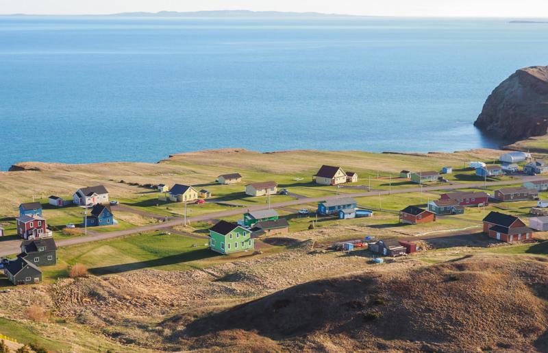 Maisons colorées de îles de la Madeleine