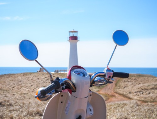 Scooter aux Îles de la Madeleine