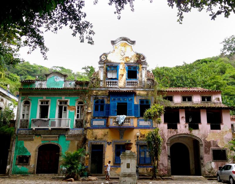 Colorful houses Rio de Janeiro
