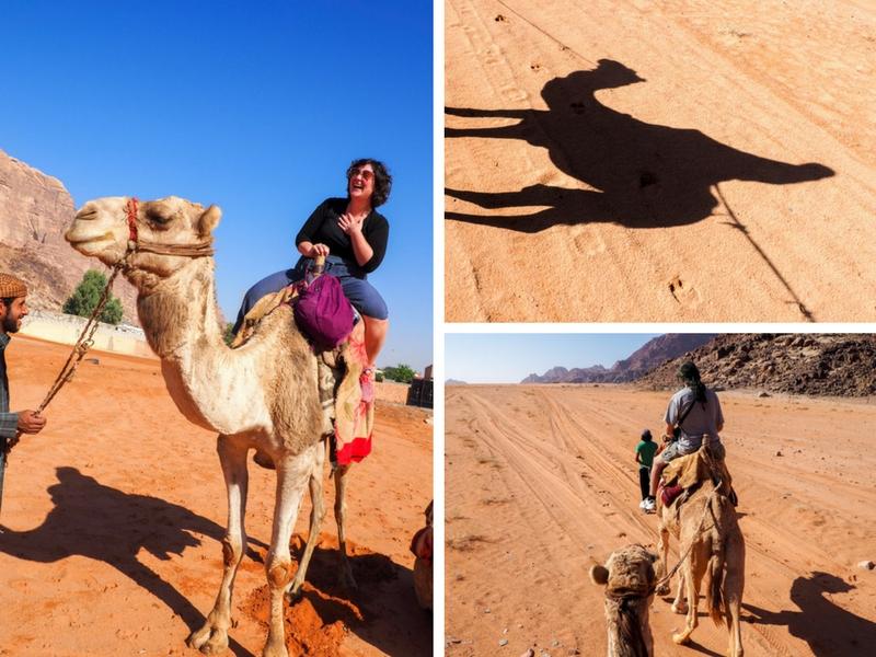 Faire du chameau dans le Wadi Rum