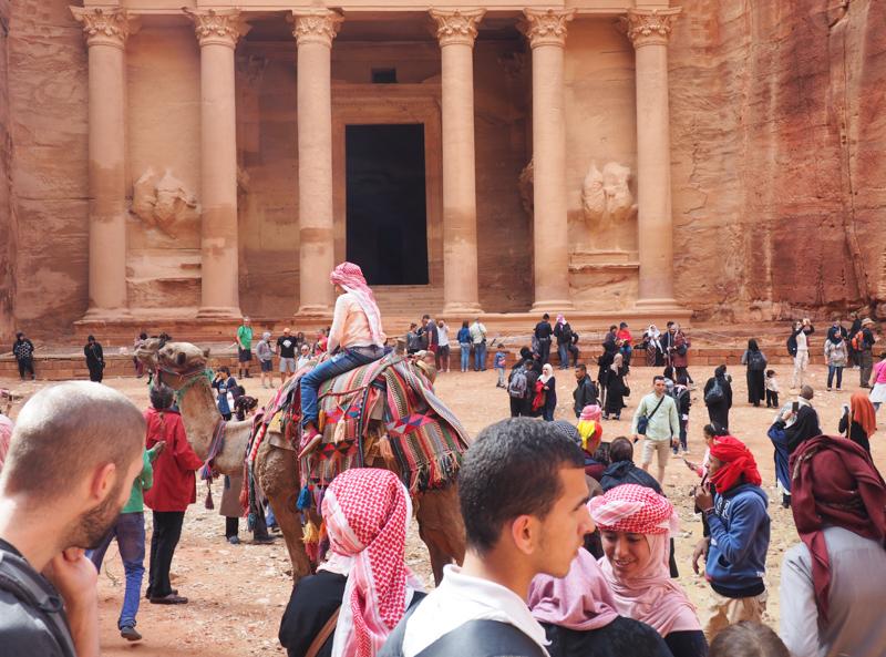Foule devant Petra