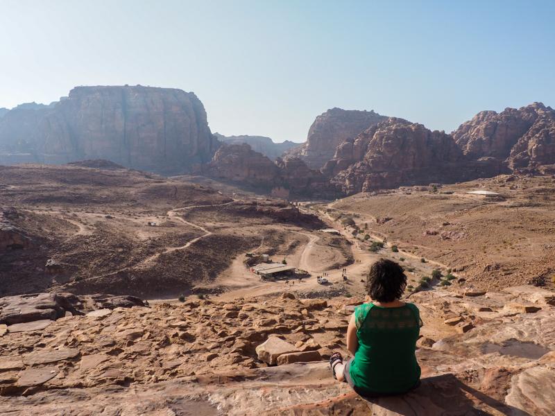 Vue du site de Petra.