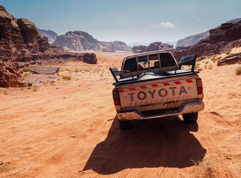 4x4 dans le désert du Wadi Rum