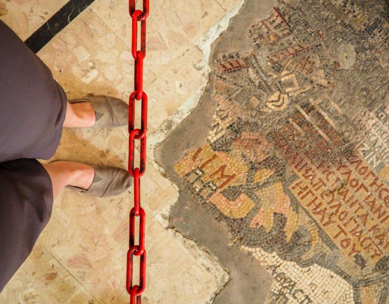 À visiter, la mosaïque de Madaba en Jordanie