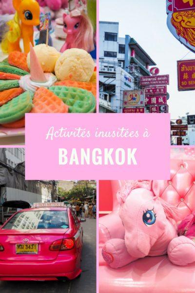 3 activités inusitées à faire dans la ville de Bangkok.
