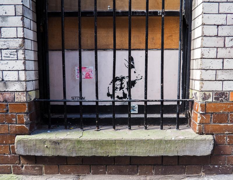 Lapin de l'artiste Stewy à Bristol.