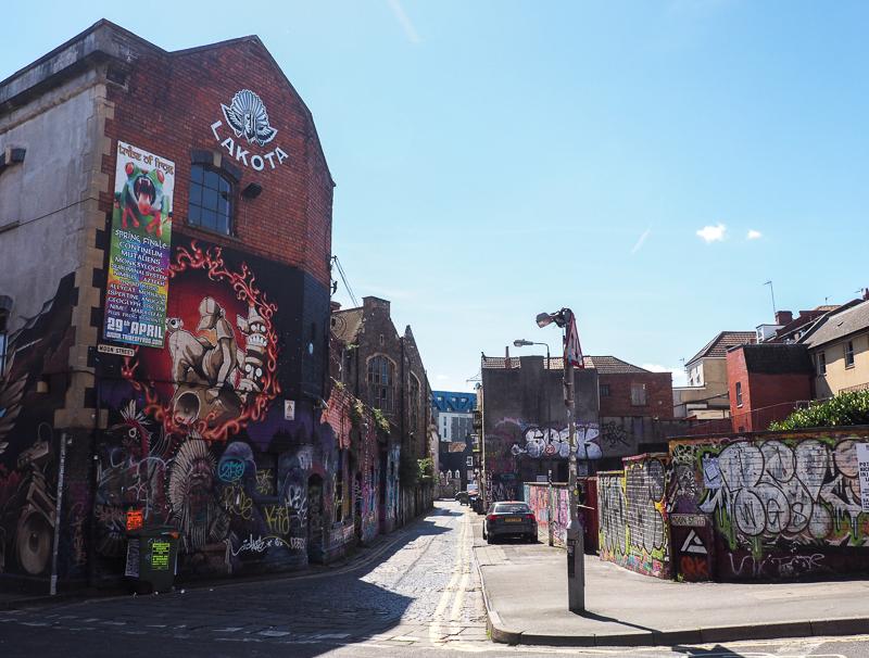 Quartier Stokes Croft à Bristol.
