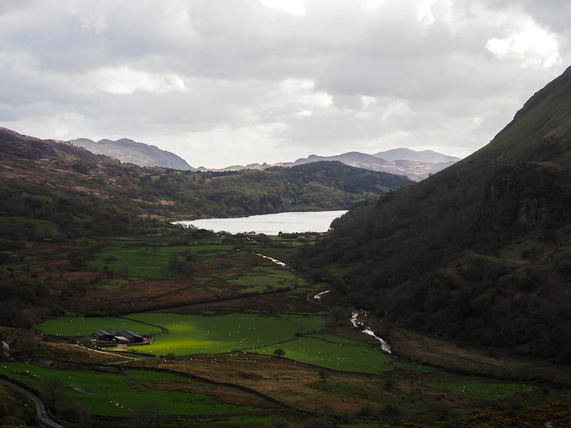 Paysage du parc national de Snowdonia au Pays de Galles.