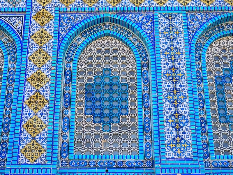 Détails du Mont du Temple de Jerusalem.