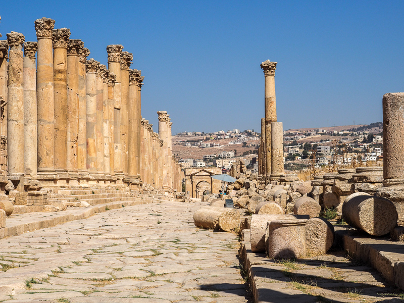 Ruines de Jerash en Jordanie.