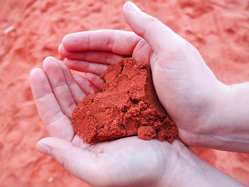 Coeur en sable de Jordanie.